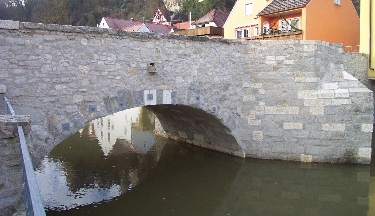 Alte Wörnitzbrücke, Harburg in Schwaben