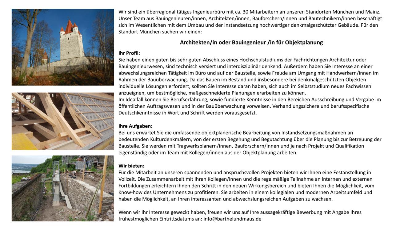 Bezaubernd Architekt Suchen Beste Wahl Architekt/in Oder Bauingenieur/in Für Objektplanung