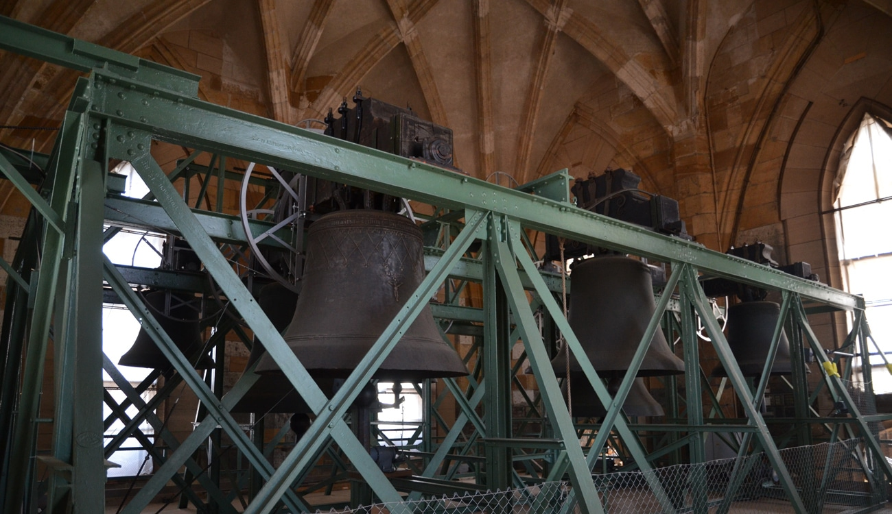 Ulmer Münster, Glockenstuhl im Hauptturm